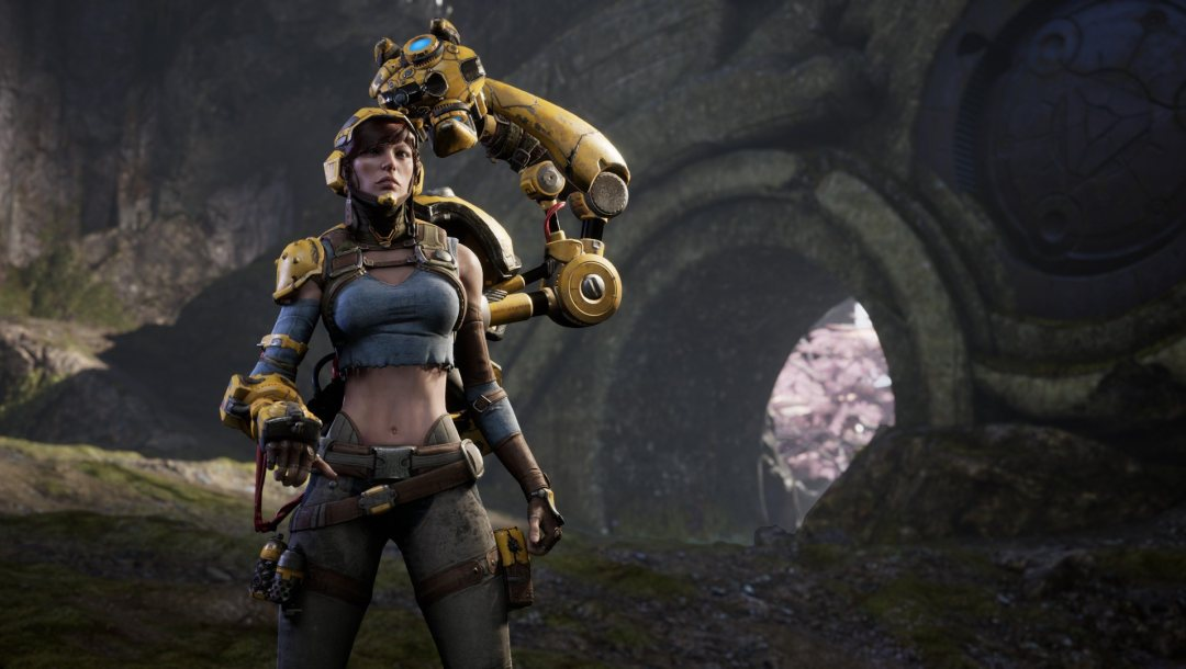 game,girl,microsoft,woman,Gadget,caster,pc,playstation 4,Epic Games,ranged,Paragon,oppai,ps4