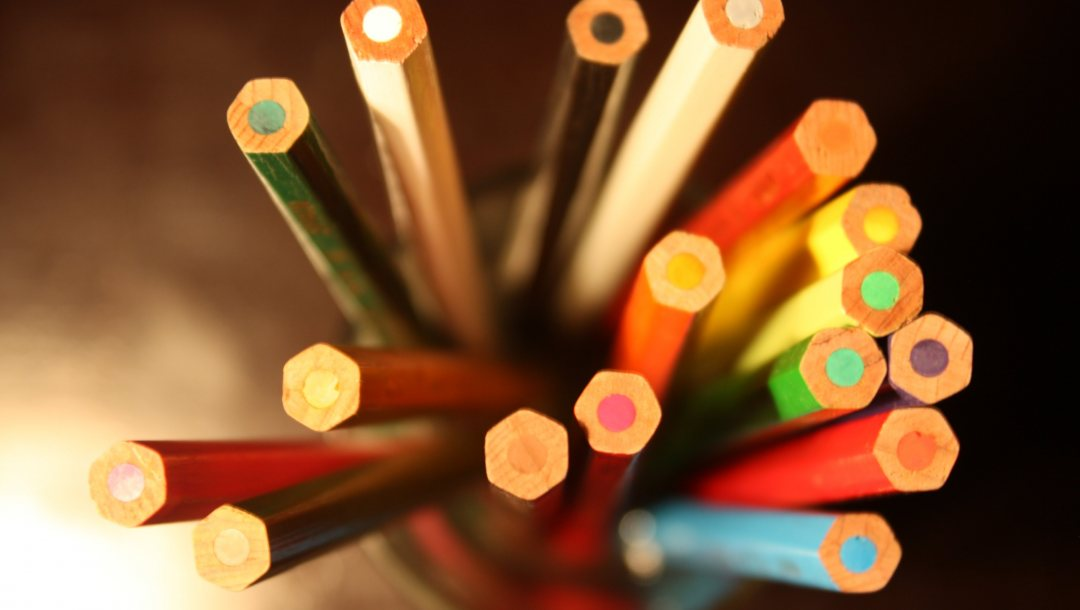 pencils ,from,top,colorful