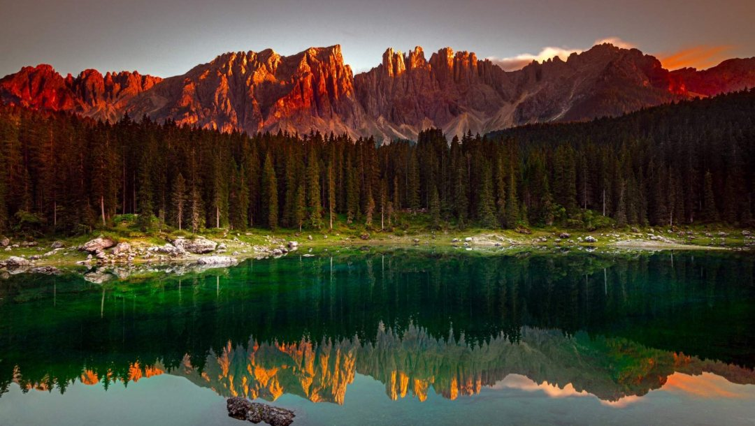 forest,mountain,Karersee