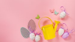 eggs,pink,Easter,yellow