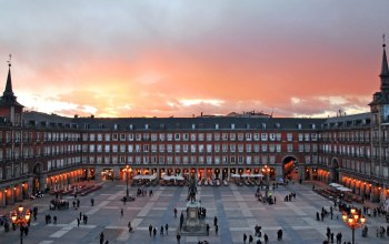 plaza,Madrid ,spain,mayor