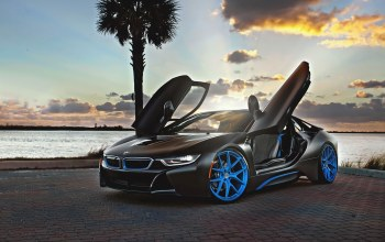 blue,i8,wheels,hre,Bmw