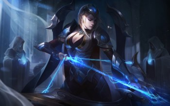 тетива,championship,лук,свет,league of legends,Worlds,эш,Ashe,splash,Лига Легенд,artwork