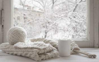 шерсть,шарф,winter,snow,mug,окно,Window,cup