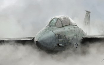 fog,illustration,fighter,aircraft