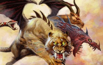goat,mythology,claws,dragon,Predator,chimera,wings,tusks,Tiger,scales,snake,tora