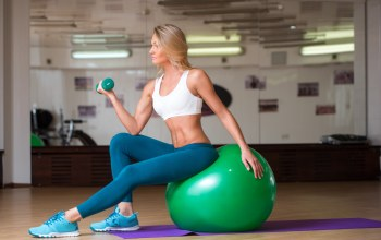 Ball,workout,blonde