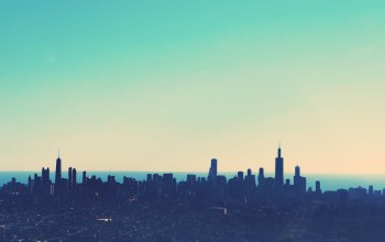 chicago,view,colorful,skyline