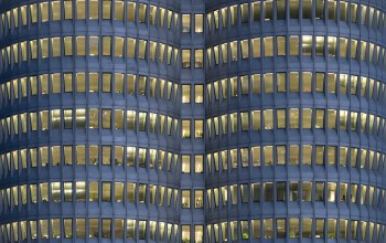 Geometric,BMW-Hochhaus,münchen,lines,Architektur,Window,blue hour,building