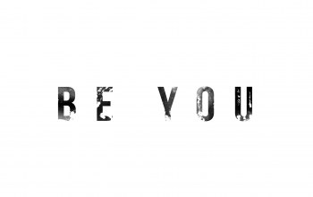 White,simple,you,be,typographic