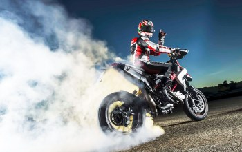 smoke,hypermotard,Ducati,burn,rubber