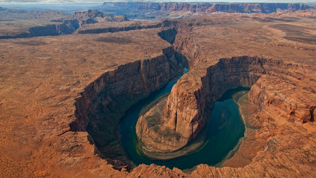 horse,bend,view,shoe,canyon,Aerial