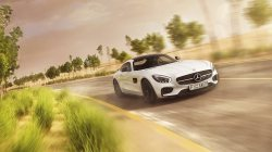 White,amg,gt,Speed,supercar,mercedes-benz,Road