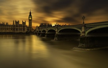 Westminster bridge,long exposure,london
