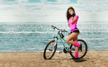 sports,woman,activewear,beach,beauty,bicycle