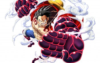 gear 4,akuma from mi,kaizoku,captain,gomu gomu no mi,Mugiwara,worse generation,luffy,asiatic,straw hat,one piece,Haki,manga,weapons Haki,Mugiwara no Luffy,game,devil fruit,Busoushoku Haki,gear fourth,japanese,scar,muscular,pirate,supernova,asian,Monkey D. Luffy,strong