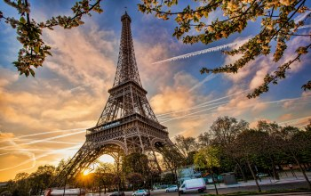 Весна,Eiffel tower,Cityscape,france,spring,paris,blossom
