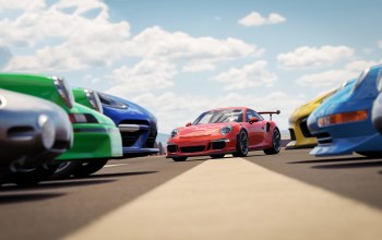 Forza Horizon,Speed,car,cloud,porsche,game,Race,kumo,sky,Forza Horizon 3