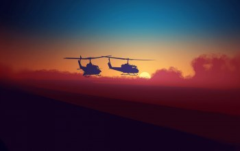 clouds,sky,helicopters,background