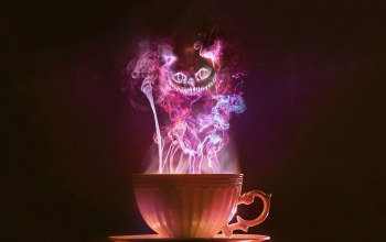 glow,cup,cheshire,cat,tea