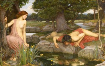forest,John William Waterhouse,Echo and Narcissus