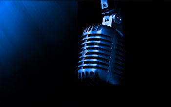 microphone,blue