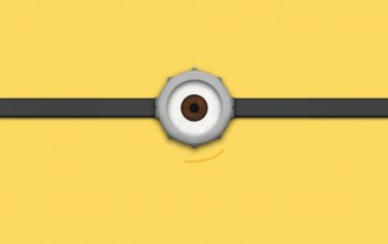 eye,yellow,minion,goggle,simple,minimalistic