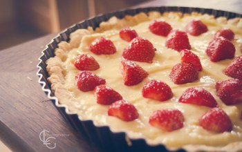 cake,cream,Pie,strawberries