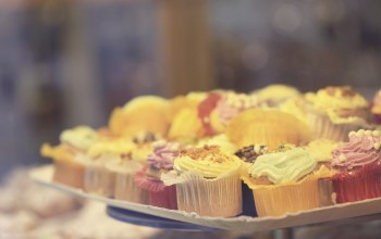 Cupcakes,Delicious,sweets,close,tray