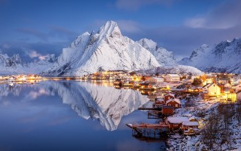 norway,Reine,дома,Лофотенские острова,Raphael Messmer,Lofoten islands,Норвегия