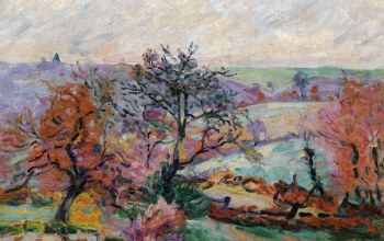 Вид Крозана,картина,Armand Guillaumin,Пейзаж,осень,Арман Гийомен