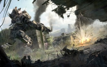 robot,weapon,combat,rifle,battlefield,Titanfall 2,solfier,game,Dust,gun,war,Titanfall