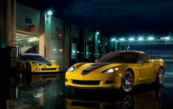 corvette,yellow,zo6