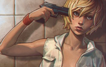 silent hill 3,heather mason,heather,пистолет
