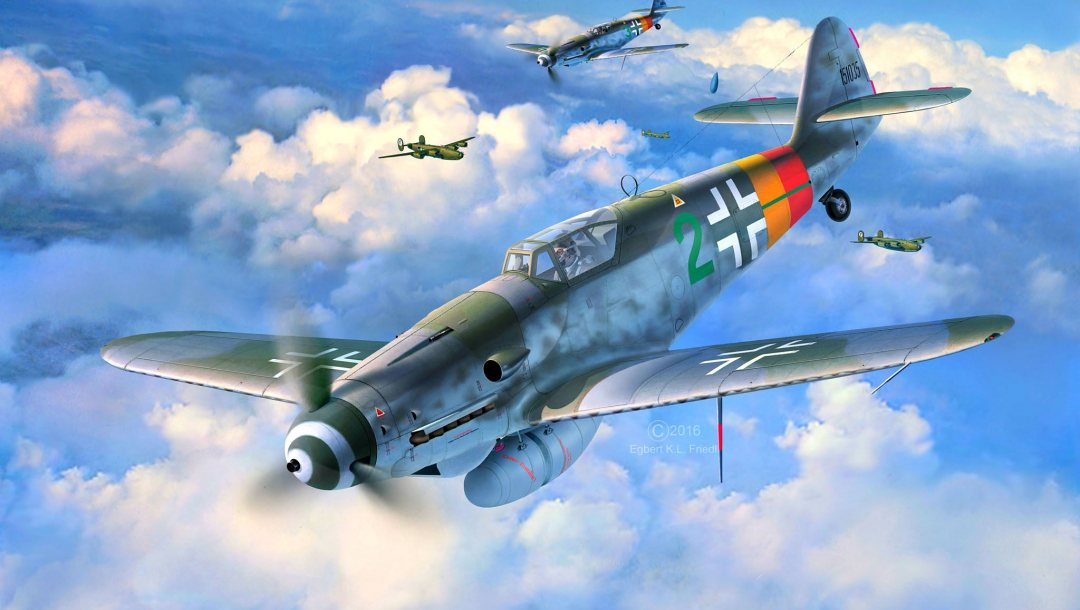ww2,fighter,bf.109g-10,Germany,luftwaffe,aircraft,painting