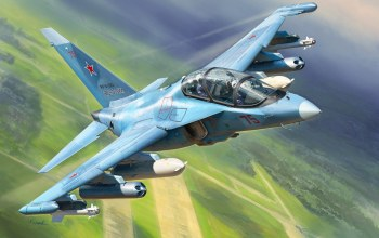 jet fighter,painting art,russian aircraft,yakovlev,Yak 130