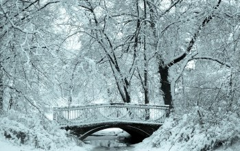 bridge,snow,river,the,речка,winter