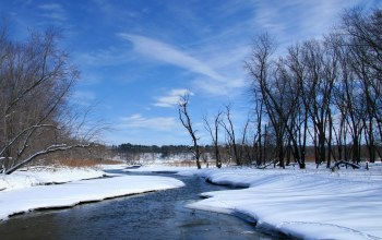 речка,snow,winter,river,the