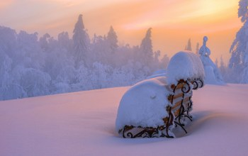 snow,winter,Sunset