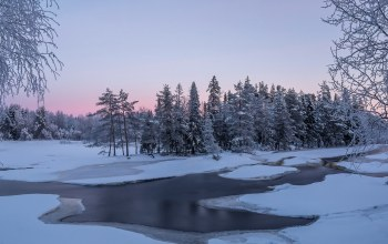 winter,the,river,frost,речка,Мороз
