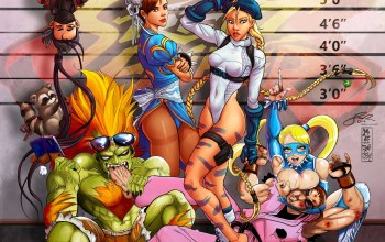 девушки,Street Fighter Lineup,Art Collab with Makuzoku
