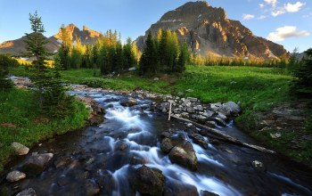landscape,mountain,stream,beautiful