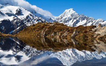 river,reflection,mountains,скалы,rock