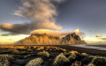 iceland,morning,Vesturhorn,Last Clouds