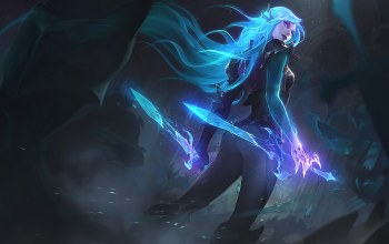league of legends,artwork,Лига Легенд,splash,Катарина,клинки,Death Sworn