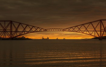 Forth Rail Road Bridge,scotland,sunrise,South Queensferry