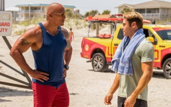 beach,movie,zac efron,film,cinema,tatoo,bull,Baywatch,dwayne johnson