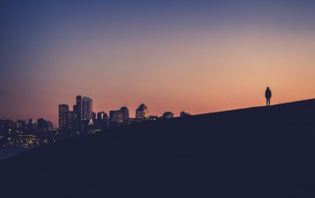 downtown,person,silhouette,Eastlake,Twilight,Sunset,seattle,washington,hill,dusk
