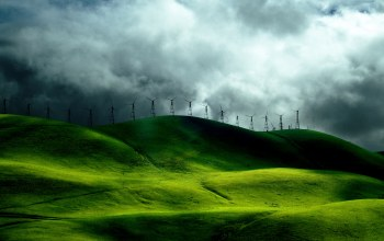fields,turbine,wind