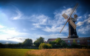 windmill,beautiful,scenery